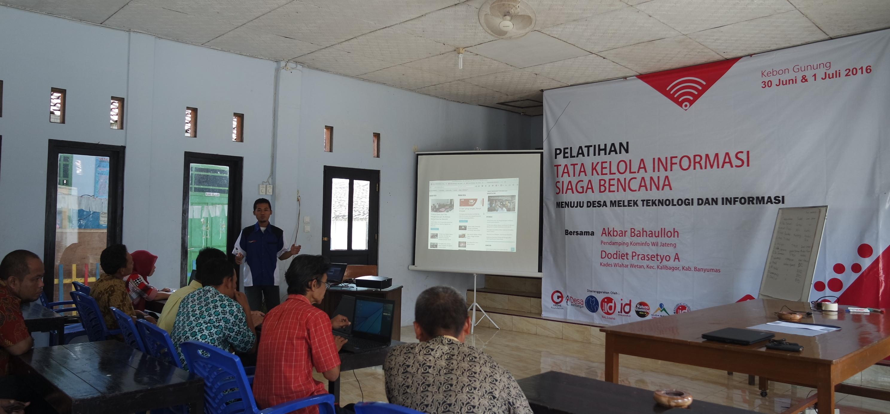Tata Kelola Informasi Siaga Bencana di Desa Se-Kecamatan Loano Kabupaten Purworejo