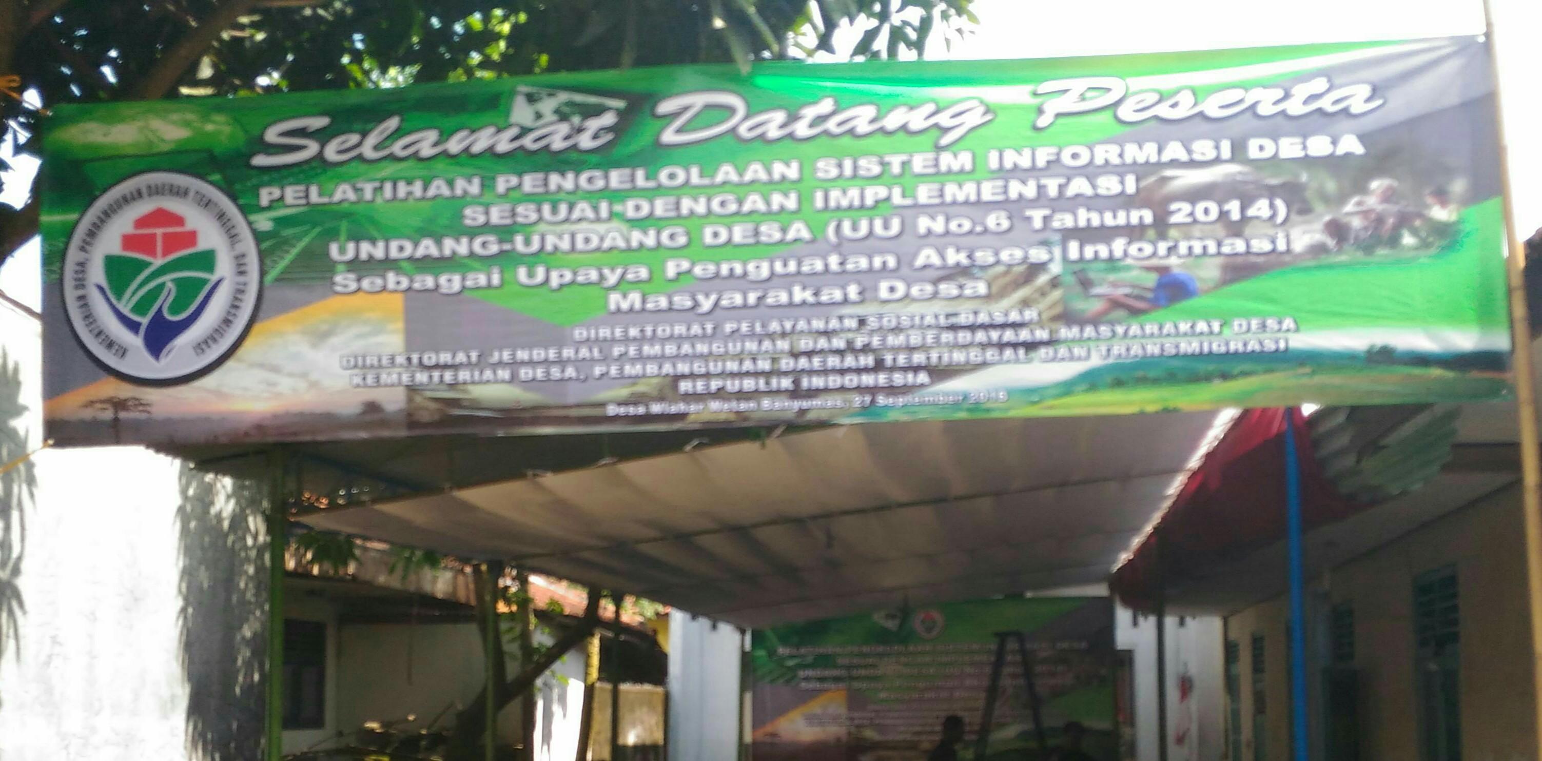Kemendes Menyelenggarakan Pelatihan Sistem Informasi Desa di Wlahar Wetan