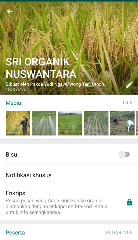 WhatsApp Group SRI Organik Nuswantara