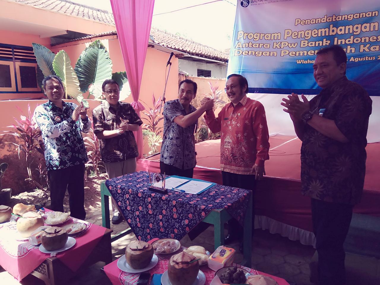 Bangun Desa Wlahar Wetan, Pemdes dan Bank Indonesia Serta Pemkab Banyumas Siap Kuatkan Cluster Ekonomi Kreatif