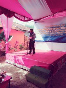 Kepala Desa Wlahar Wetan Dodiet Prasetyo, ST sedang Menjelaskan Latar Belakang Petani Desa Wlahar Wetan Menjadi Binaan Khusus dari Bagian MoU Bank Indonesia dengan Pemkab Banyumas