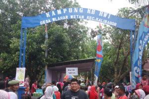Gerbang Kampung KB RW 1 Desa Wlahar Wetan Kecamatan Kalibagor Kabupaten Banyumas