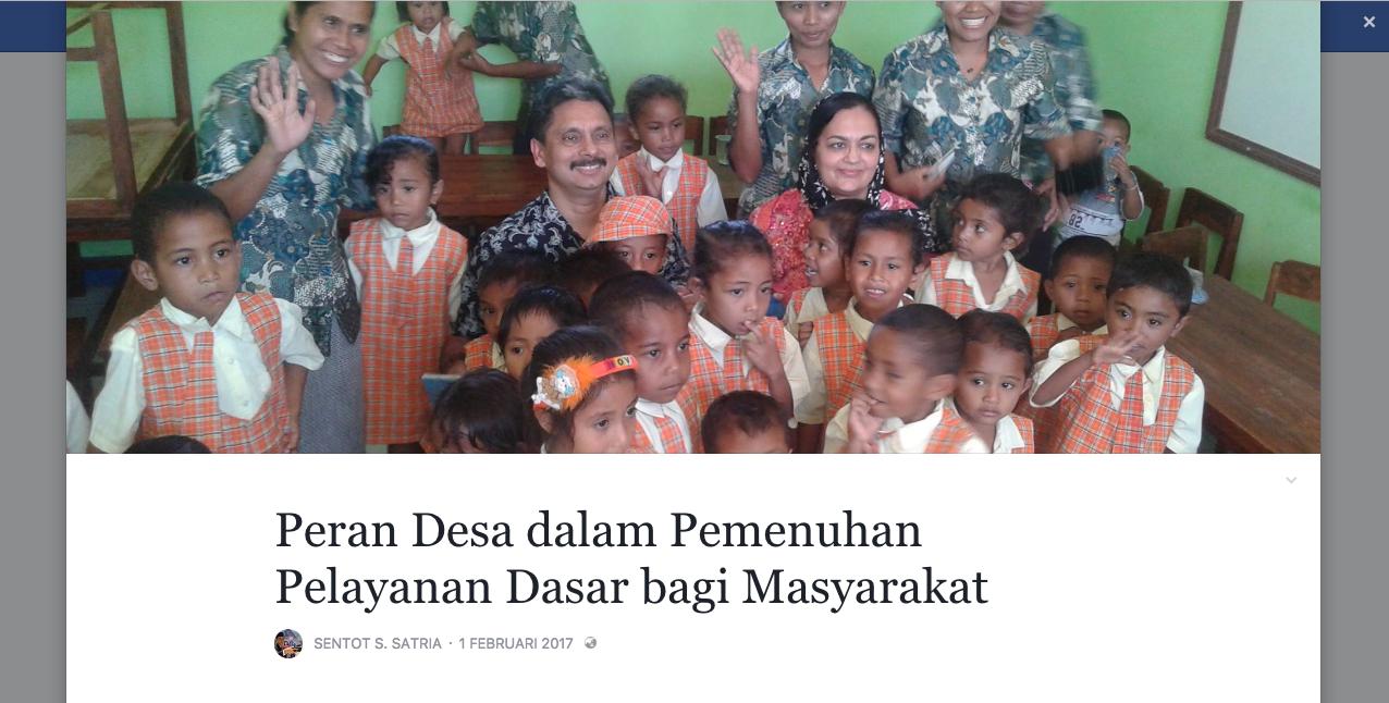 #Catatan: Peran Desa Dalam Pemenuhan Pelayanan Dasar Bagi Masyarakat