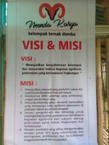 """Visi dan Misi kelompok Ternak """"Menda Karya"""" Desa Wlahar Wetan Binaan baznas Indonesia"""