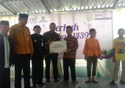 Bank Muamalat, Salurkan Santunan Anak Yatim Di Wlahar Wetan