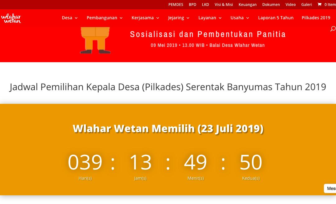 Pilkades Serentak 2019, Ini Daftar Bakal Calon Kepala Desa di Wlahar Wetan